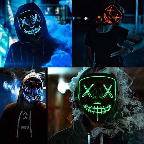 Máscaras LED Halloween