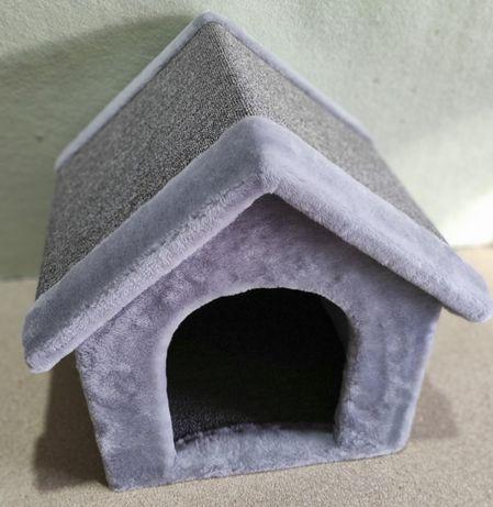 Лежанка-будка из меха для собаки . Ручная работа. Pups-952