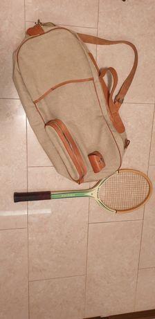 Rakieta tenisowa Dunlop, torba tenisowa