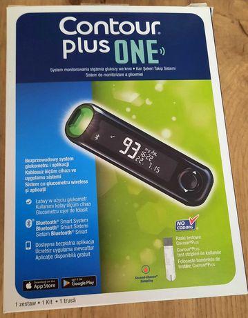 Glukometr firmy Contour plus ONE + 50 szt pasków (bezpłatna aplikacja)