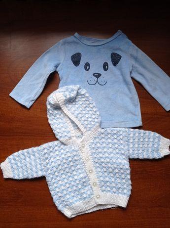 Zestaw sweterek + bluza dla chłopca