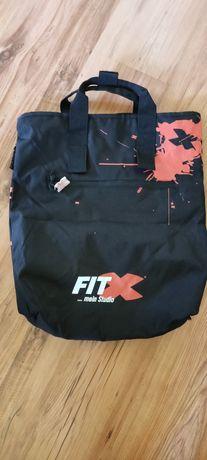 Czarna mocna torba sportowa FitX jak nowa