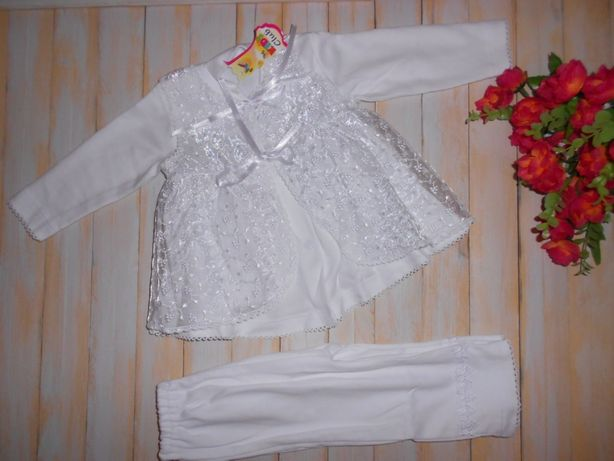 Комплект нарядный для девочки от 3 до 9 ти месяцев (примерно)