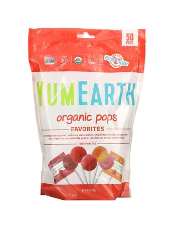 YumEarth,Органические леденцы, ассорти,натуральні цукерки Iherb 50шт