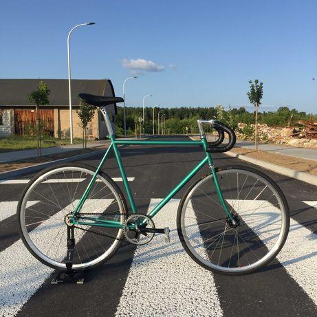 Baluma rower torowy ostre koło rama cro-mo BLB zielony