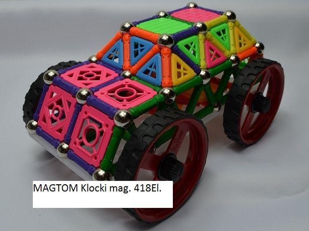 Zabawki klocki magnetyczne Auto 418el.