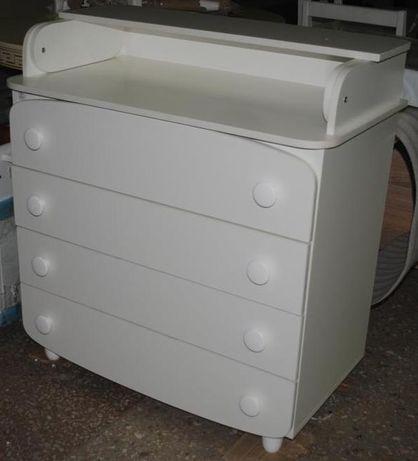 Комод детский, пеленатор Верес белый 95х89х49 см новый.