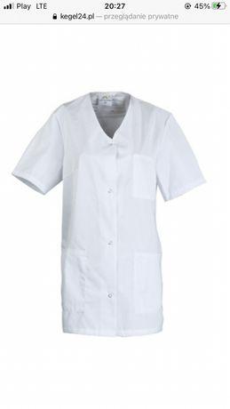 Bluza damska odzież medyczna fartuch biała