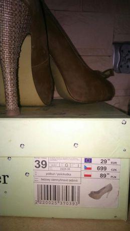 Pantofle,szpilki 39
