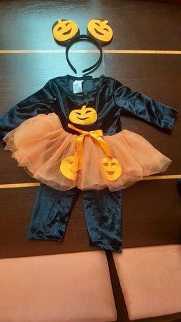 Sprzedam przebranie na Halloween, bal dynii, stan idealny, POLECAM!