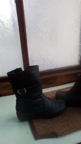 Зимние сапожки кожаные