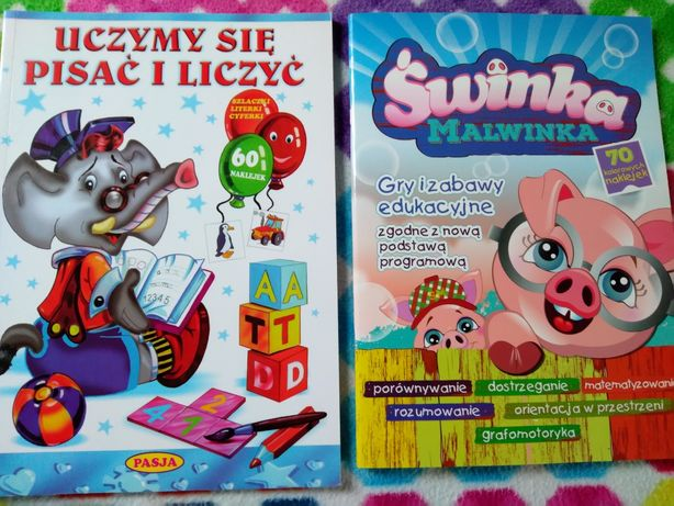 Edukacyjne książki dla dzieci - nauka pisania i liczenia
