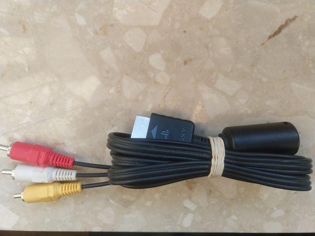 Oryginalny kabel AV do PS2 PlayStation 2 konsola audio video chinch
