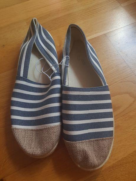 Nowe espadryle trampki buty r 38 wkładka ok 24.5cm