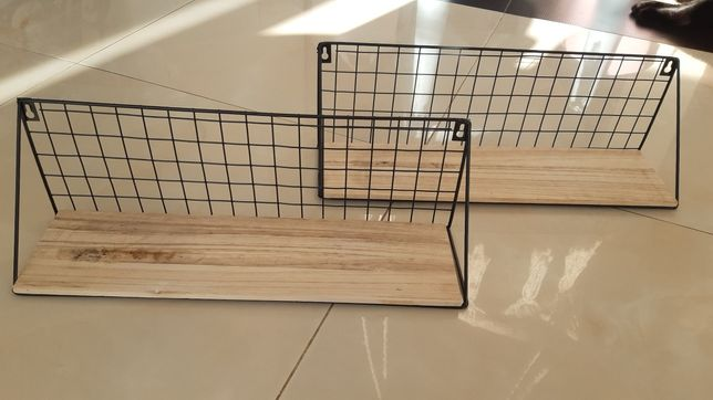 Półki metal+drewno