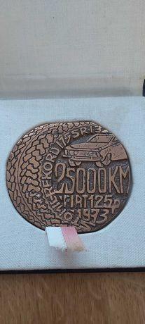 Medal z bicia Recordu Fiat 125p 25000km