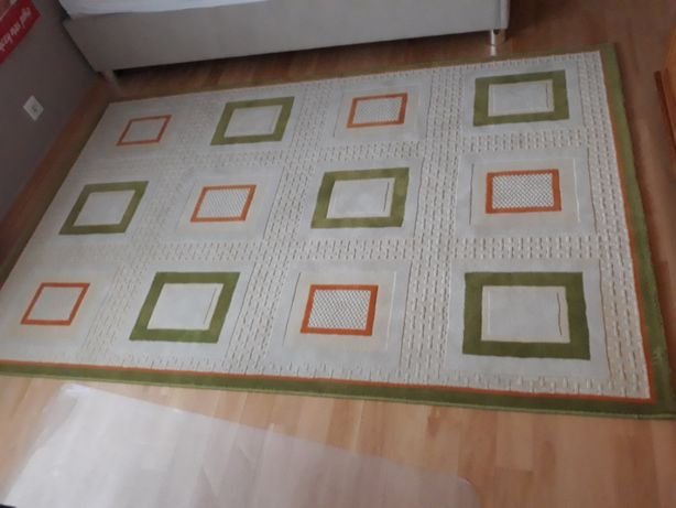 OKAZJA dywan beż, pomarańczowy, zielony 150 x 230