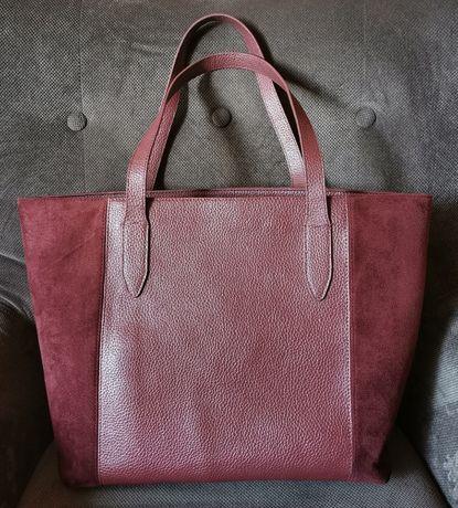 Bordowa torba shopper Orsay duża