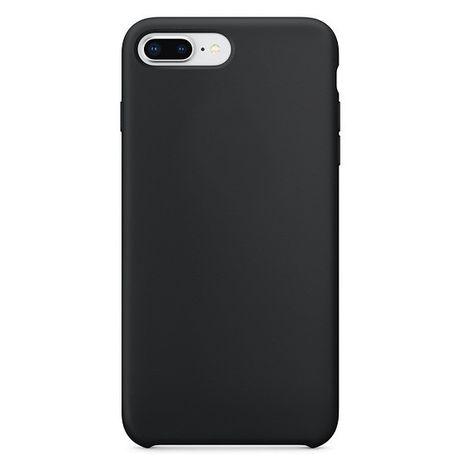 Capa Silicone Traseira Case Soft Flexible Rubber Cover Iphone 8 Plus / 7 Plus Preto