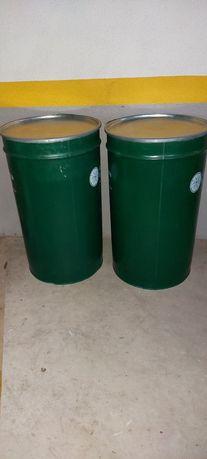 Barricas metálicas com tampa e com fecho de 220 litros alimentar