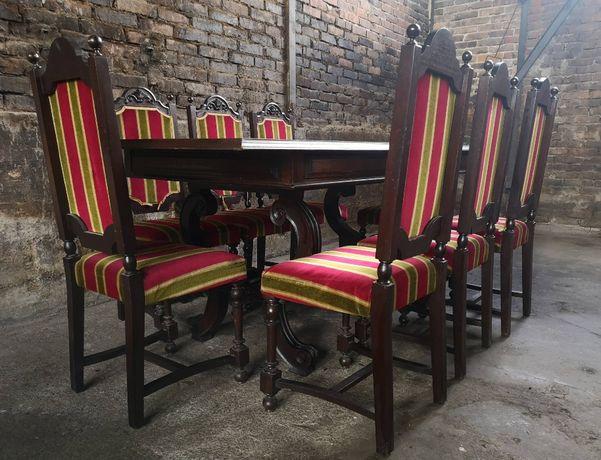 *Portugalski, efektowny duży stół z 8 krzesłami*transport