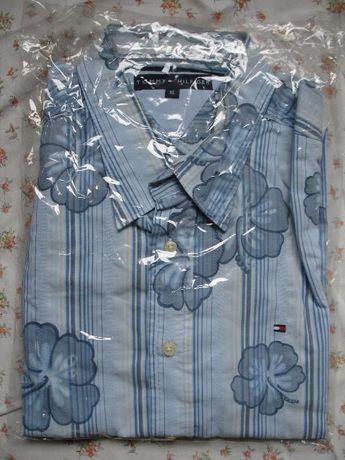 nowa koszula w kwiaty niebieska TOMMY HILFIGER XL