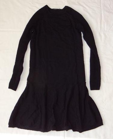 COS śliczna dzianinowa sukienka w granacie _ XS