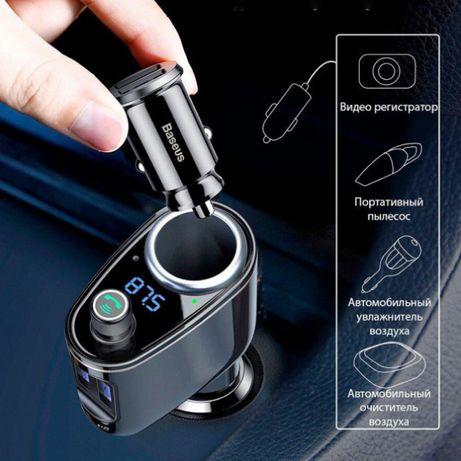 Автомобильный модулятор FM-трансмиттер Baseus Bluetooth MP3 (2USB)