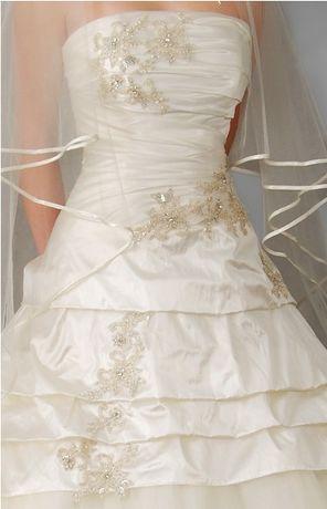 Piękna suknia ślubna z firmy MS Moda