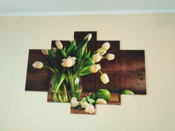 Obraz tulipany tryptyk