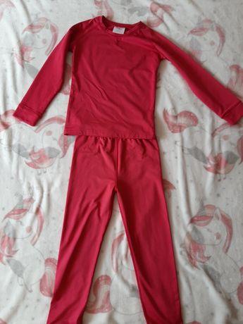 H.Nowe Bielizna termiczna bluzka spodnie ocieplana komplet 110-116 cm