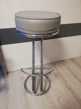 krzesło barowe szare