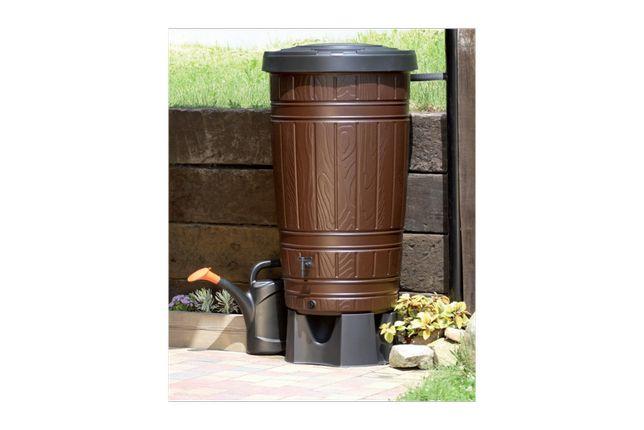 Zbiornik na deszczówkę brązowy Woodcan beczka 265L PROSPERPLAST