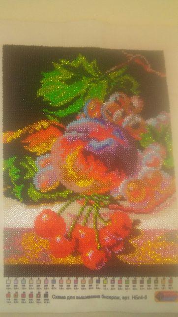 Вишивка фрукти