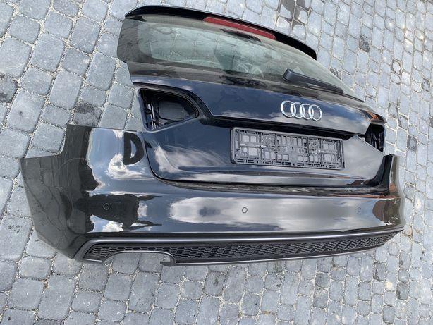 Klapa pokrywa bagażnika kpl.zderzak tył PDC Audi A4 B8 lift S-line kpl