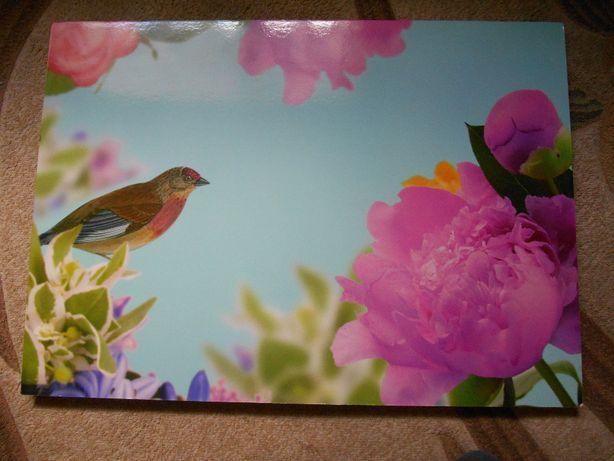 """OBRAZ z widokiem - natura /kwiaty,ptak/ """"IKEA"""""""