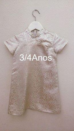 Vestido Menina 3/4Anos