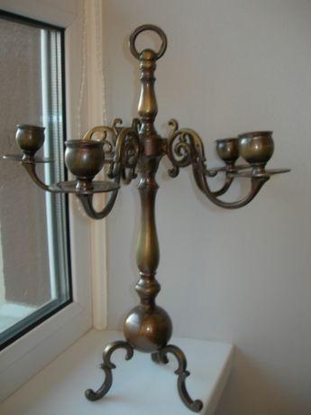 Подсвечник, 5 свечей, бронза, 3 кг, Дания, большой