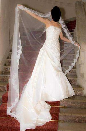 Hiszpańska suknia ślubna rozmiar 36, kolor ivory