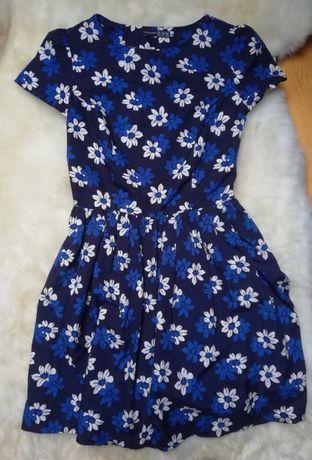 Urocza zwiewna rozkloszowana sukienka w kwiaty - marki Atmosphere (M)