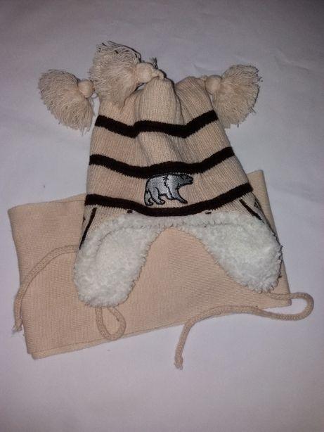 Зимняя детская шапка, детская теплая шапка