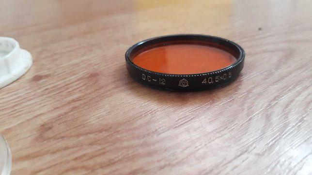 Насадочная линза ОС - 12 40,5х0,5мм Светофильтр оранжевого цвета