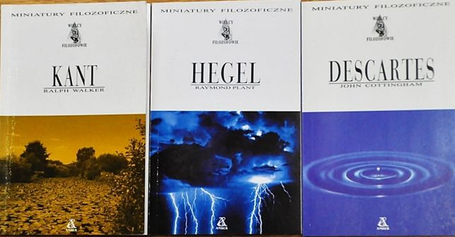 Miniatury Filozoficzne DESCARTES HEGEL KANT