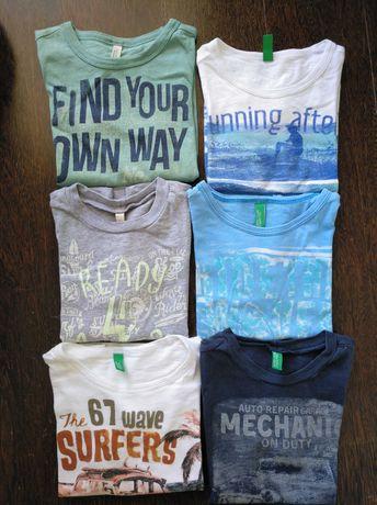 8 T-shirts de menino da Benetton ( Podem ser vendidas separadamente)