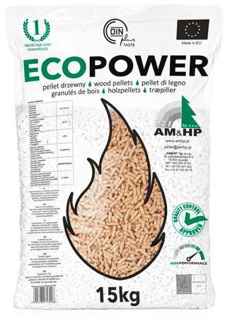 Sprzedam pellet Ecopower w workach 15 kg pelet drzewny