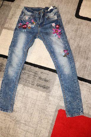 spodnie jeansowe dziewczęce nowe 140