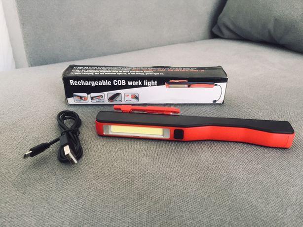 COB MX-BC011 фонарь автомобильный на аккумуляторе с магнитом + кабель