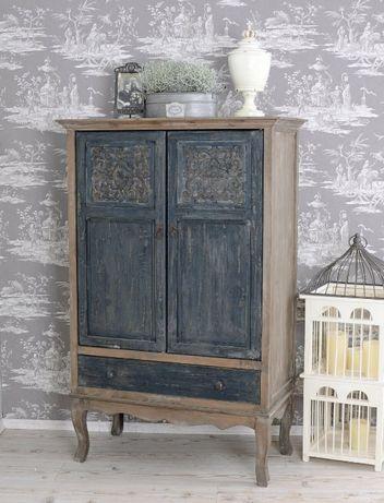 Szafa drewniana przyczerniana w stylu Azjatyckim pawc013