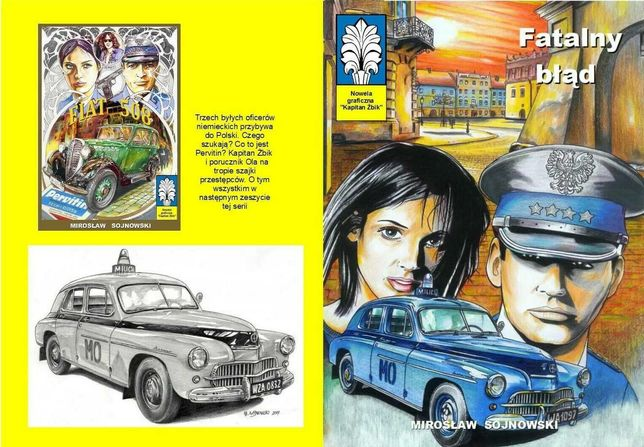 """Kolorowy komiks """"Kapitan Żbik- Fatalny błąd"""", 32 strony format B5"""