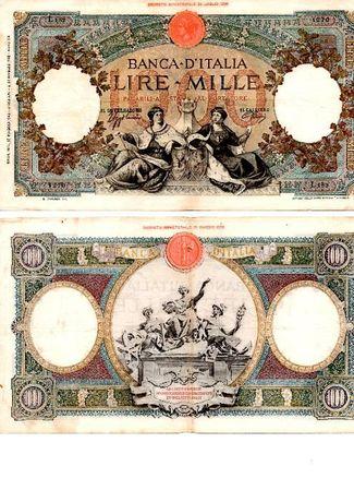 NOTA DE 1000 LIRE Banca D´itália DECR. MIN. 17 Maggio 1943 ANNO XXI